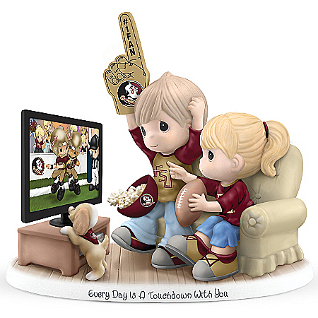 FSU Seminoles Precious Moments Figurine: Every Day Is A Touchdown With You