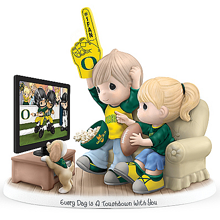 Oregon Ducks Precious Moments Figurine: Every Day Is A Touchdown With You
