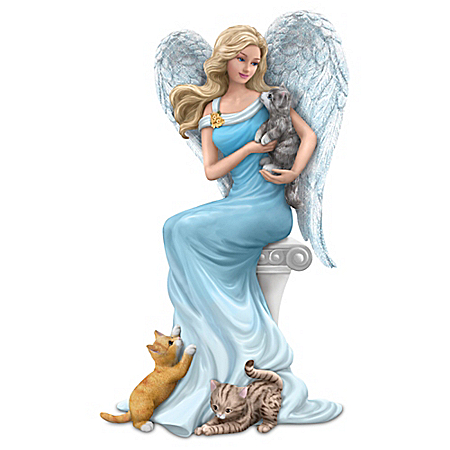 Cats Give Purr-fect Heavenly Support Angel Figurine