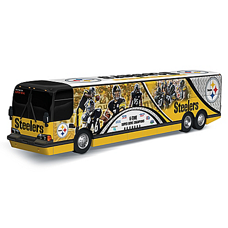 NFL Pittsburgh Steelers On The Road To Victory 1:43 Scale Bus Sculpture