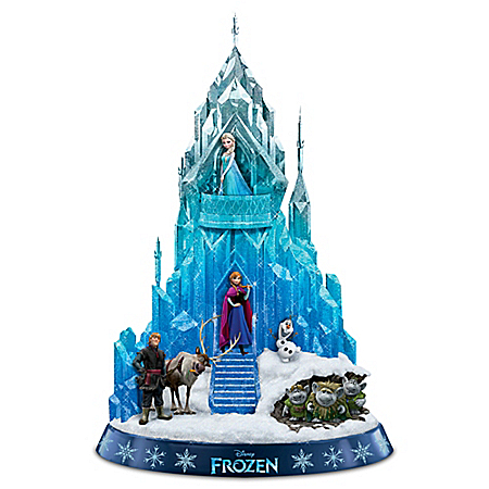 Disney FROZEN Ice Palace of Elsa Sculpture Lights Up and Plays Let It Go