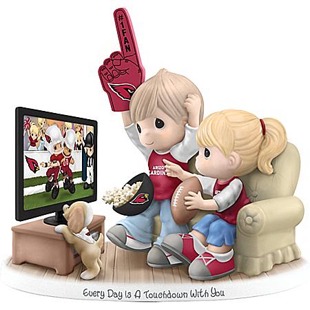 NFL Licensed Arizona Cardinals Precious Moments Bisque Porcelain Figurine