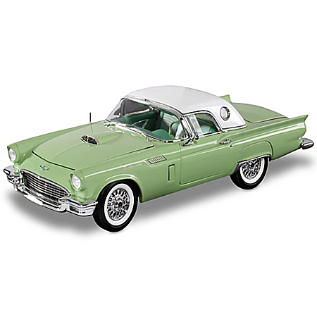 Willow Green 1957 Ford Thunderbird Convertible 1:18 Diecast Car