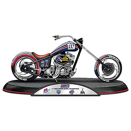 NFL New York Giants Driven To Victory Motorcycle Sculpture