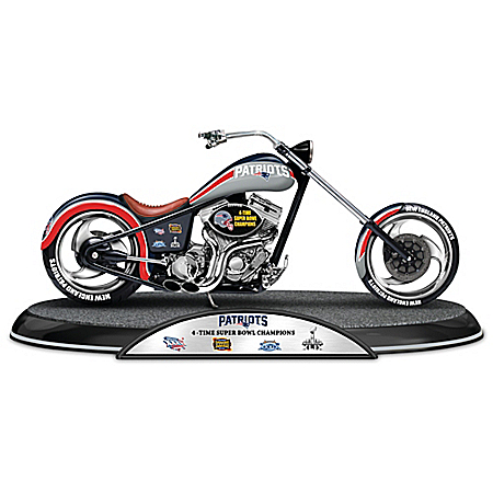 NFL New England Patriots Driven To Victory Motorcycle Sculpture