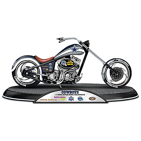 NFL Dallas Cowboys Driven To Victory Motorcycle Sculpture