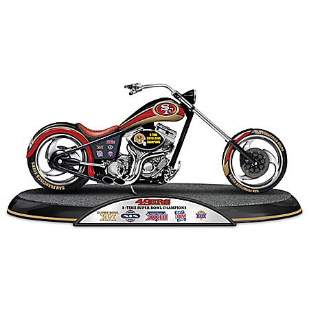 NFL San Francisco 49ers Driven To Victory Motorcycle Sculpture