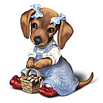 THE WIZARD OF OZ DOROTHY Dachshund Dog Figurine