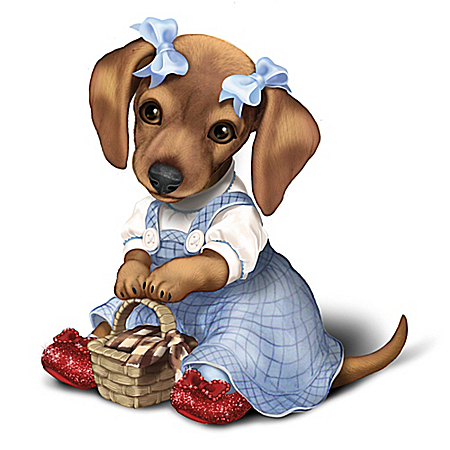 THE WIZARD OF OZ DOROTHY Dachshund Dog Collectible Figurine