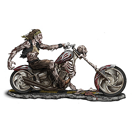 Dead Man Riding Zombie Motorcycle Figurine