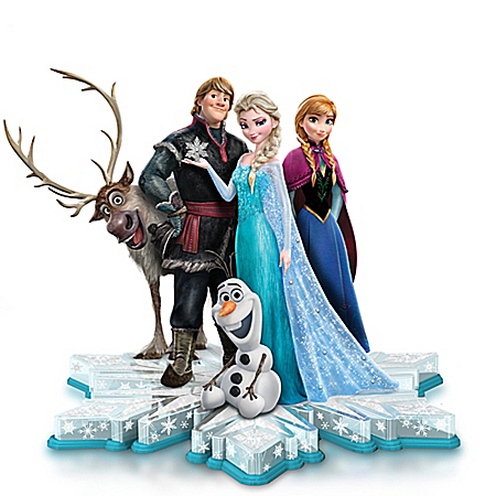 Michael Giaimo Disney Ultimate FROZEN Sculpture With Swarovski Crystals