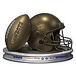 NFL-Licensed Dallas Cowboys Pride Bronzed Football And Helmet Sculpture