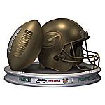 NFL-Licensed Green Bay Packers Pride Bronzed Football And Helmet Sculpture