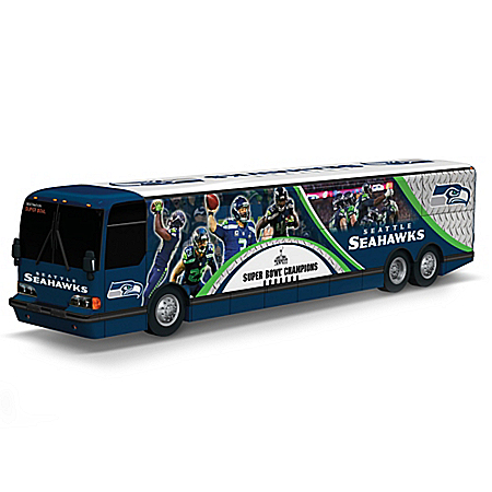 Russell Wilson And The Seattle Seahawks On The Road To Victory Bus Sculpture