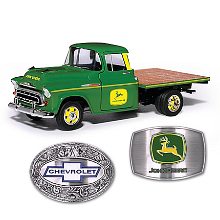1:25 Scale 1957 John Deere Chevy Diecast Flatbed Truck