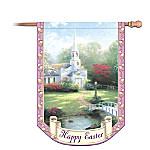 Thomas Kinkade Happy Easter Decorative Flag