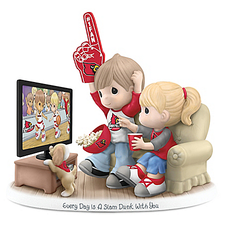Precious Moments Every Day Is A Slam Dunk With You - Louisville Cardinals Figurine