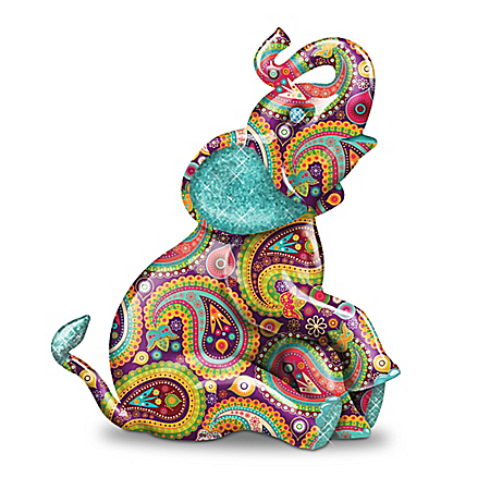 Graceful Elegance Handcrafted Elephant Figurine