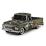 John Wayne - A Military Tribute 1965 Ford F100 Truck Sculpture