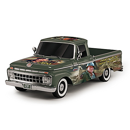 John Wayne - A Military Tribute 1965 Ford F100 Truck Sculpture