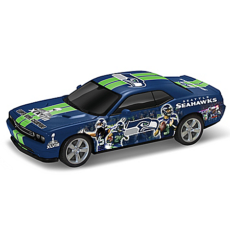 NFL Seattle Seahawks Power & Pride Collage Dodge 1:18 Scale Car Sculpture