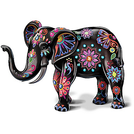 Reign Of The Monarch By Blake Jensen Porcelain Elephant Figurine