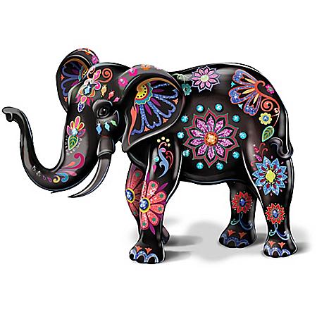 Reign Of The Monarch By Blake Jensen Porcelain Elephant Figurine
