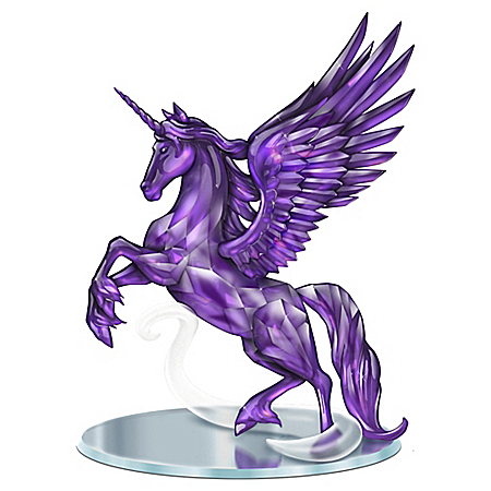 Magic Of The Amethyst Handcrafted Unicorn Figurine