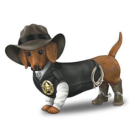 Sher-ruff S. Paws Old West Dachshund Figurine