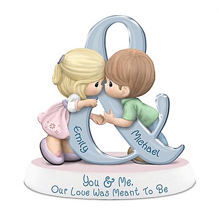 Precious Moments Romantic Custom Figurine With Your 2 Names: Hamilton Collection