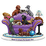 Home Is Where My Doxies Are Hand-Painted Dachshund Figurine