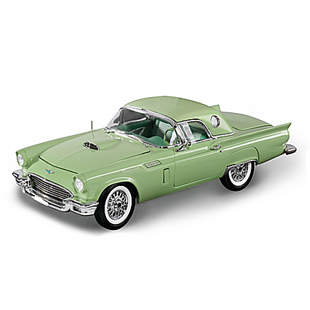 1:18 1957 Ford Thunderbird Convertible Diecast Willow Green Car