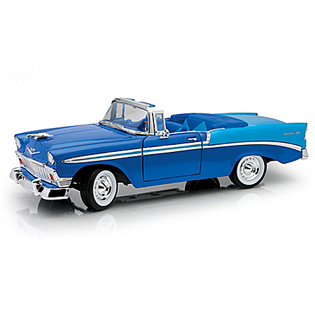 1:18 60th Anniversary 1956 Chevrolet Bel Air Two-Tone Blue Diecast Car