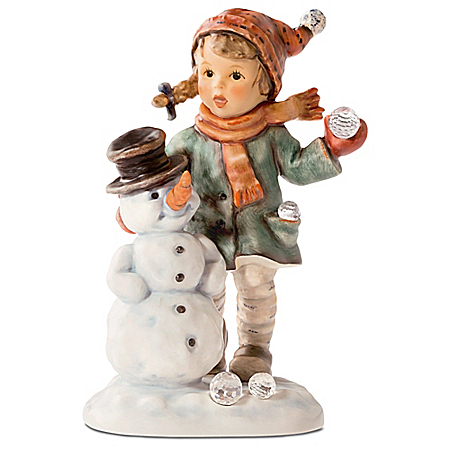 M.I. Hummel: Snow Day Figurine With Swarovski Crystals