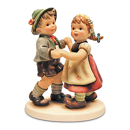 M.I. Hummel: First Dance Figurine With Two Bavarian Children