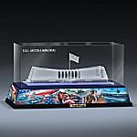Honoring The Heroes Of Pearl Harbor Laser-Etched U.S.S. Arizona Memorial Block Sculpture