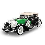 1 - 18-Scale 1934 Duesenberg Model J Diecast Car - Black/Green