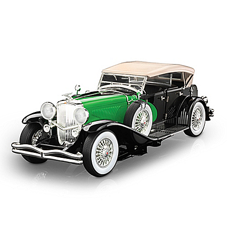 1:18-Scale 1934 Duesenberg Model J Diecast Car: Black/Green