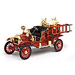 1 - 18-Scale Ford Model T 1914 Fire Engine Diecast Truck With Fire Hose Accessories