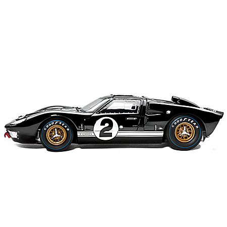 1:18-Scale 1966 Ford GT-40 MK II #2 Diecast Car: Black