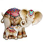 Trunks Of Love Handcrafted Elephant Figurine Set