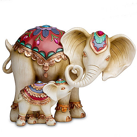 Trunks Of Love Handcrafted Elephant Figurine Set
