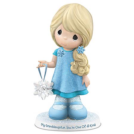 Precious Moments Granddaughter Snowflake Figurine: Hamilton Collection