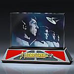 STAR TREK 50th Anniversary To Boldly Go Glass Sculpture