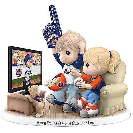 Precious Moments Every Day Is A Home Run With You New York Mets Figurine