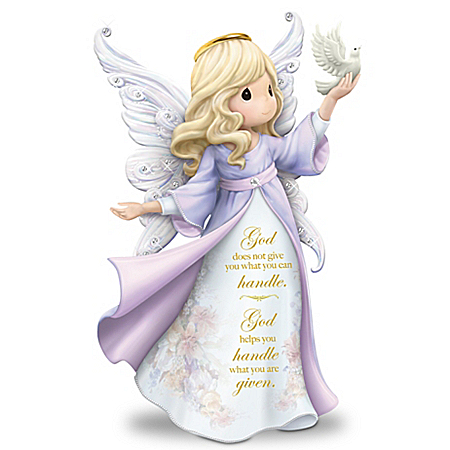 Lena Liu Precious Moments My Strength, My Hope Angel Figurine