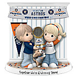 Precious Moments Together We're A Winning Team Houston Astros MLB Figurine