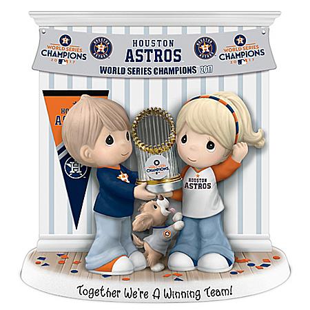 Houston Astros 2017 World Series Precious Moments Porcelain Figurine