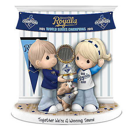 Together We're A Winning Team Kansas City Royals Precious Moments Figurine