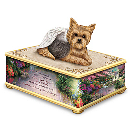 Thomas Kinkade Forever My Friend Handcrafted Yorkie Keepsake Box